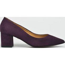 Solo Femme - Czółenka. Szare buty ślubne damskie marki Solo Femme, z materiału, na obcasie. W wyprzedaży za 279,90 zł.
