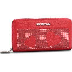 Duży Portfel Damski LOVE MOSCHINO - JC5562PP16LT0500 Rosso. Czerwone portfele damskie Love Moschino, ze skóry ekologicznej. W wyprzedaży za 339,00 zł.