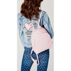 Torebki i plecaki damskie: Damski plecak w serca little princess - Różowy