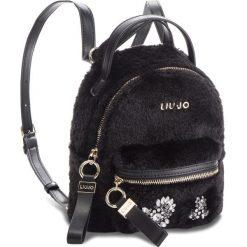 Plecak LIU JO - S Backpack Brentas N68066 E0412 Nero 22222. Czarne plecaki damskie Liu Jo, z materiału. Za 469,00 zł.
