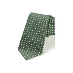 Krawat męski REUS bordo kropki. Zielone krawaty męskie HisOutfit, w kropki, z materiału. Za 129,00 zł.