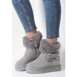 Szare Śniegowce One More Time. Czerwone buty zimowe damskie marki vices. Za 99,99 zł.