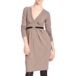Odzież damska: Sukienka Yuliya Babich w kolorze beżowym