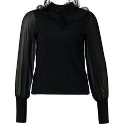 Swetry klasyczne damskie: Navy London FLEUR  Sweter black