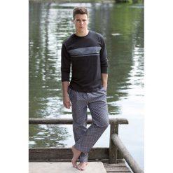 Piżamy męskie: Piżama długa w wzór
