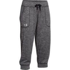 Spodnie sportowe damskie: Under Armour Spodnie damskie Tech Capri – Twist Szare r. S (1271687-001)