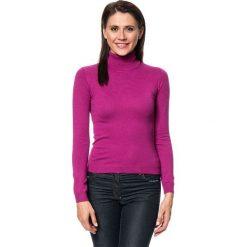 Golfy damskie: Sweter w kolorze fuksji