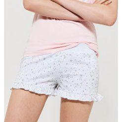 Piżamy damskie: Piżamowe szorty w gwiazdki – Jasny szar