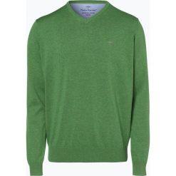 Fynch Hatton - Sweter męski, zielony. Zielone swetry klasyczne męskie Fynch-Hatton, l, z bawełny. Za 249,95 zł.