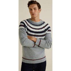 Mango Man - Sweter Mars. Szare swetry klasyczne męskie Mango Man, l, z elastanu, z okrągłym kołnierzem. Za 199,90 zł.