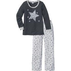 Piżama bonprix antracytowy melanż. Szare piżamy damskie bonprix, melanż. Za 79,99 zł.