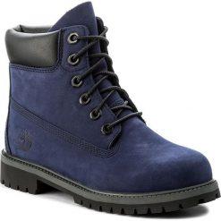Trapery TIMBERLAND - 6 In Premium Wp Boot A1MMR Evening Blue. Niebieskie buty zimowe chłopięce marki Timberland, z gumy. W wyprzedaży za 389,00 zł.