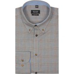 Koszula croft 1962 długi rękaw slim fit brąz. Szare koszule męskie na spinki Recman, na lato, m, z aplikacjami, z bawełny, button down, z długim rękawem. Za 29,99 zł.