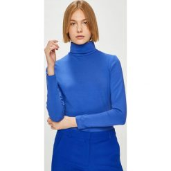 Answear - Bluzka Watch Me. Niebieskie bluzki z golfem ANSWEAR, l, z bawełny, casualowe. Za 79,90 zł.