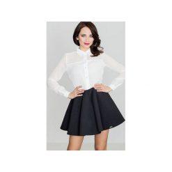 Spódnica K268 Czarny. Czarne spódnice wieczorowe Lenitif, l, z tkaniny, rozkloszowane. Za 99,00 zł.