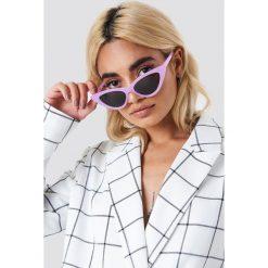 Okulary przeciwsłoneczne damskie aviatory: NA-KD Trend Okulary przeciwsłoneczne Pointy Cat Eye – Purple