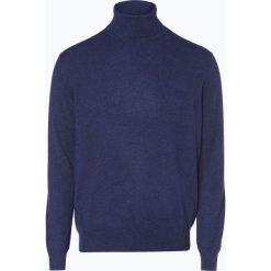 Golfy męskie: Andrew James – Sweter męski z czystego kaszmiru, niebieski