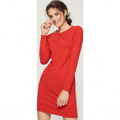 Dzianinowa sukienka - Pomarańczo. Czerwone sukienki dzianinowe Sinsay, l. Za 39,99 zł.