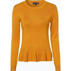 Franco Callegari - Sweter damski, żółty. Zielone swetry klasyczne damskie marki Franco Callegari, z napisami. Za 139,95 zł.