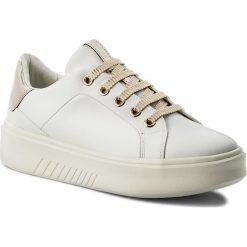 Sneakersy GEOX - D Nhenbus A D828DA 00085 C1000 White. Szare sneakersy damskie marki Geox, z gumy. W wyprzedaży za 299,00 zł.