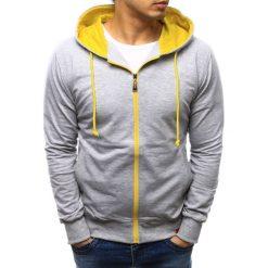 Bluzy męskie: Bluza męska rozpinana z kapturem szara (bx0514)