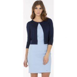 Swetry rozpinane damskie: Krótki sweter-bolerko