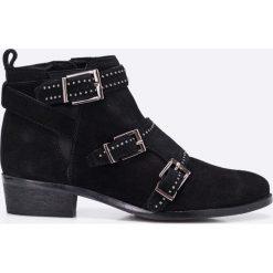 Bronx - Botki. Czarne botki damskie skórzane marki Bronx. W wyprzedaży za 199,90 zł.