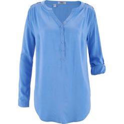 Tunika, długi rękaw bonprix średni niebieski. Niebieskie tuniki damskie z długim rękawem bonprix. Za 74,99 zł.