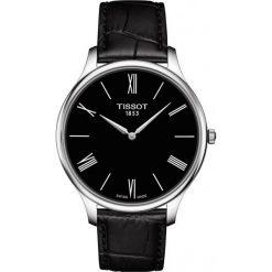 RABAT ZEGAREK TISSOT T-Classic T063.409.16.058.00. Czarne zegarki męskie TISSOT, ze stali. W wyprzedaży za 1188,00 zł.