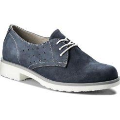 Oxfordy LASOCKI - WI23-NATI-01 Jeansowy. Niebieskie jazzówki damskie Lasocki, z jeansu, na obcasie. Za 159,99 zł.