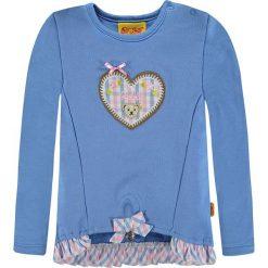 Bluza w kolorze niebieskim. Niebieskie bluzy dziewczęce rozpinane marki Steiff, z materiału. W wyprzedaży za 67,95 zł.