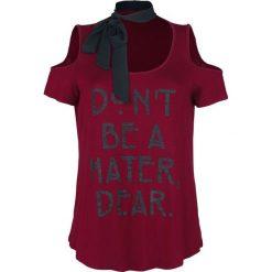T-shirty damskie: American Horror Story Don't Be A Hater, Dear T-Shirt bordowy/czarny