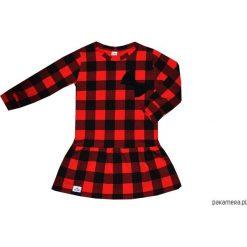 Sukienki dziewczęce: Sukienka w czerwono-czarną kratę 68-134 / BUGZY