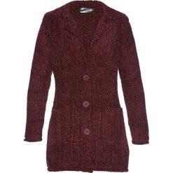 Płaszcze damskie: Płaszcz dzianinowy szeniliowy bonprix czerwony klonowy