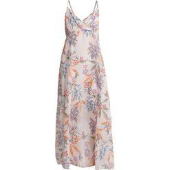 NAF NAF NUDI Długa sukienka imprime. Szare długie sukienki marki NAF NAF, z materiału, z długim rękawem. Za 439,00 zł.