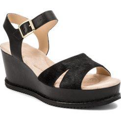 Rzymianki damskie: Sandały CLARKS – Akilah Eden 261341034  Black Leather