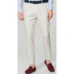 Rurki męskie: Eleganckie spodnie chino slim fit - Beżowy