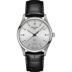 PROMOCJA ZEGAREK CERTINA GENT QUARTZ COLLECTION C022.610.16.031.00. Czarne zegarki męskie CERTINA, ze stali. W wyprzedaży za 1254,00 zł.