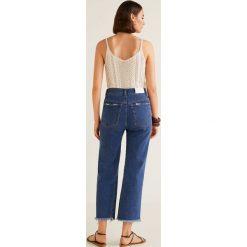 Mango - Jeansy Vintage. Niebieskie jeansy damskie z wysokim stanem Mango. Za 199,90 zł.