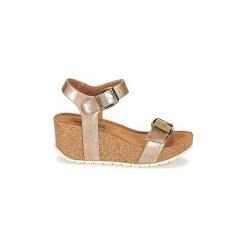 Sandały LPB Shoes  JAMIE. Żółte sandały trekkingowe damskie marki LPB Shoes. Za 175,20 zł.