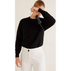 Mango - Sweter Tubit. Szare swetry klasyczne damskie Mango, l, z dzianiny, z okrągłym kołnierzem. Za 119,90 zł.
