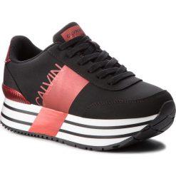 Sneakersy CALVIN KLEIN JEANS - Coretta RE9807 Black/Metal Red. Czarne sneakersy damskie marki Calvin Klein Jeans, z jeansu. Za 719,00 zł.