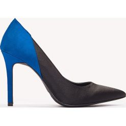 Szpilki: NA-KD Shoes Satynowe szpilki Block Color – Black,Blue