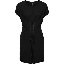 Sukienki hiszpanki: Must have: sukienka shirtowa ze sznurowaniem bonprix czarny