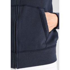 Abercrombie & Fitch LONG LIFE LOGO  Bluza rozpinana navy. Niebieskie bluzy rozpinane damskie Abercrombie & Fitch, s, z bawełny. Za 369,00 zł.