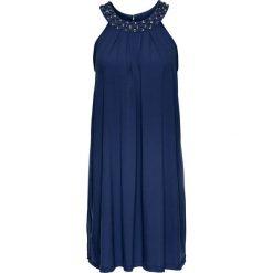 Sukienki hiszpanki: Sukienka z dżerseju z ozdobnymi kamieniami bonprix kobaltowy