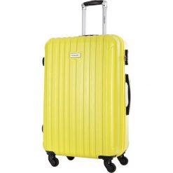 Walizka w kolorze żółtym - 45 l. Żółte walizki marki Travel One, z materiału. W wyprzedaży za 189,95 zł.