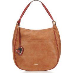 Torebka damska 87-4Y-750-5. Brązowe shopper bag damskie Wittchen, w geometryczne wzory. Za 129,00 zł.