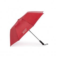 Parasol do golfa 100 UV. Czerwone parasole marki INESIS. Za 49,99 zł.