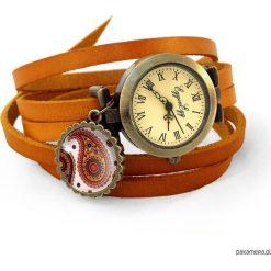 Skórzany zegarek Orientalne nerkowce - 0649. Pomarańczowe zegarki damskie Pakamera. Za 120,00 zł.